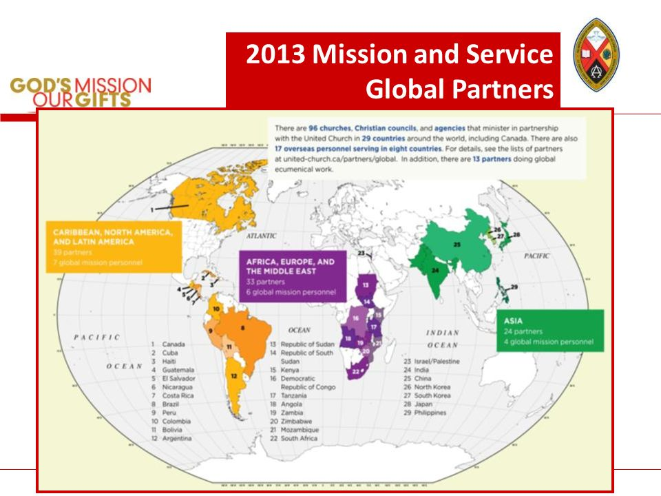 The United Church of Canada/LÉglise Unie du Canada 2013 Mission and Service Global Partners