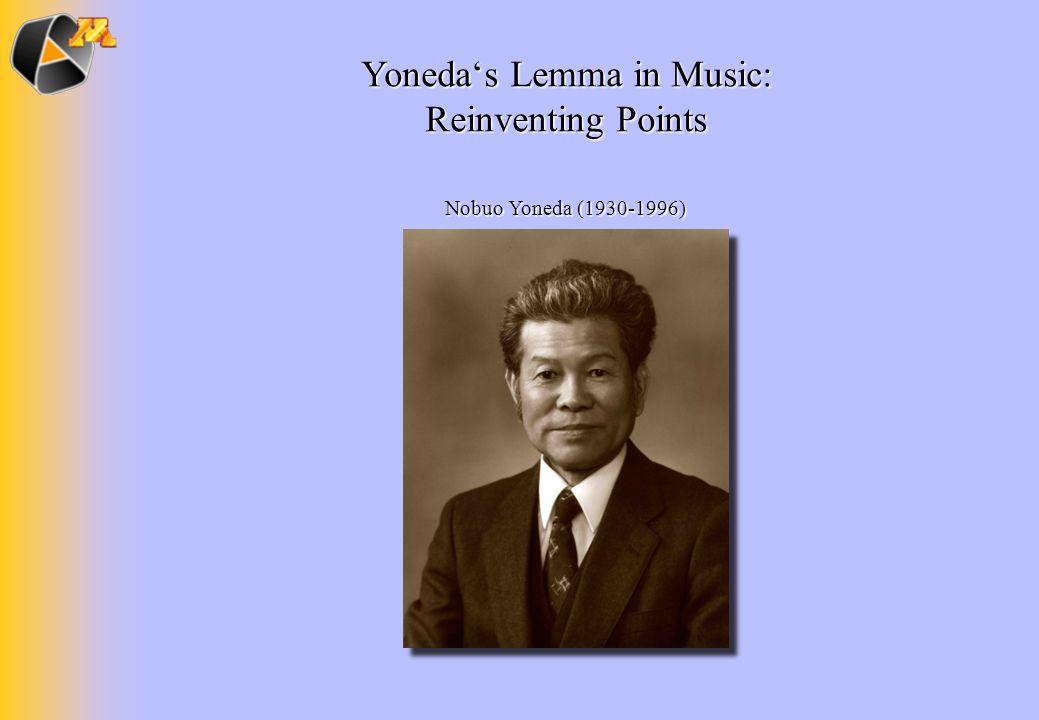 Yonedas Lemma in Music: Reinventing Points Nobuo Yoneda (1930-1996)