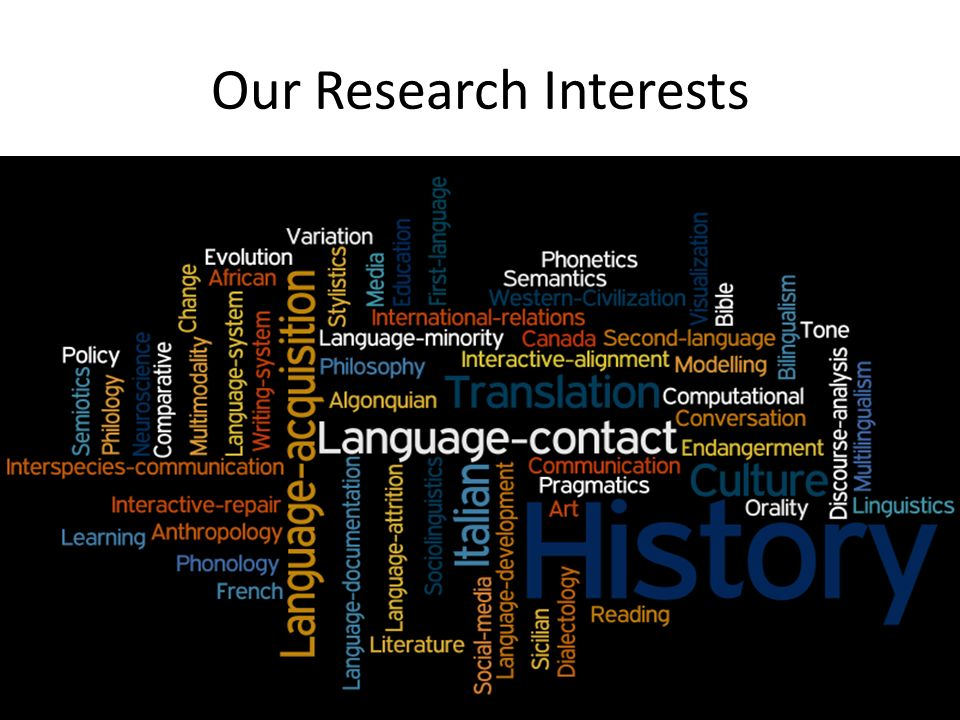 Our Research Interests