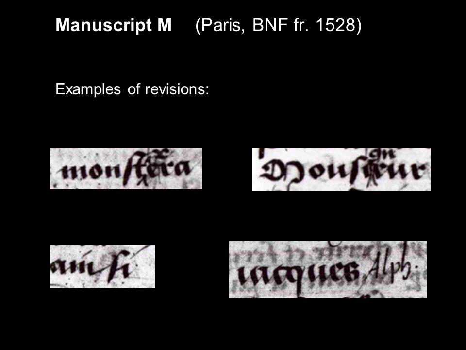 ACTES DES APOTRES Manuscript M (incomplete series) Journée 1Paris, BNF fr.