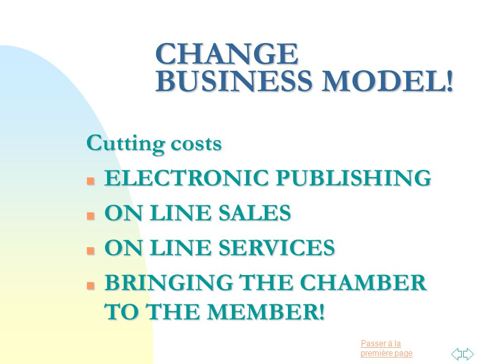 Passer à la première page CHANGE BUSINESS MODEL.
