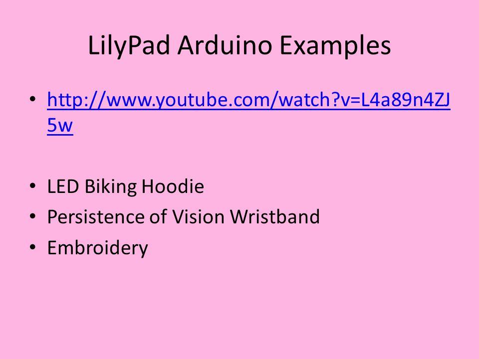 LilyPad Example: LED Biking Jacket