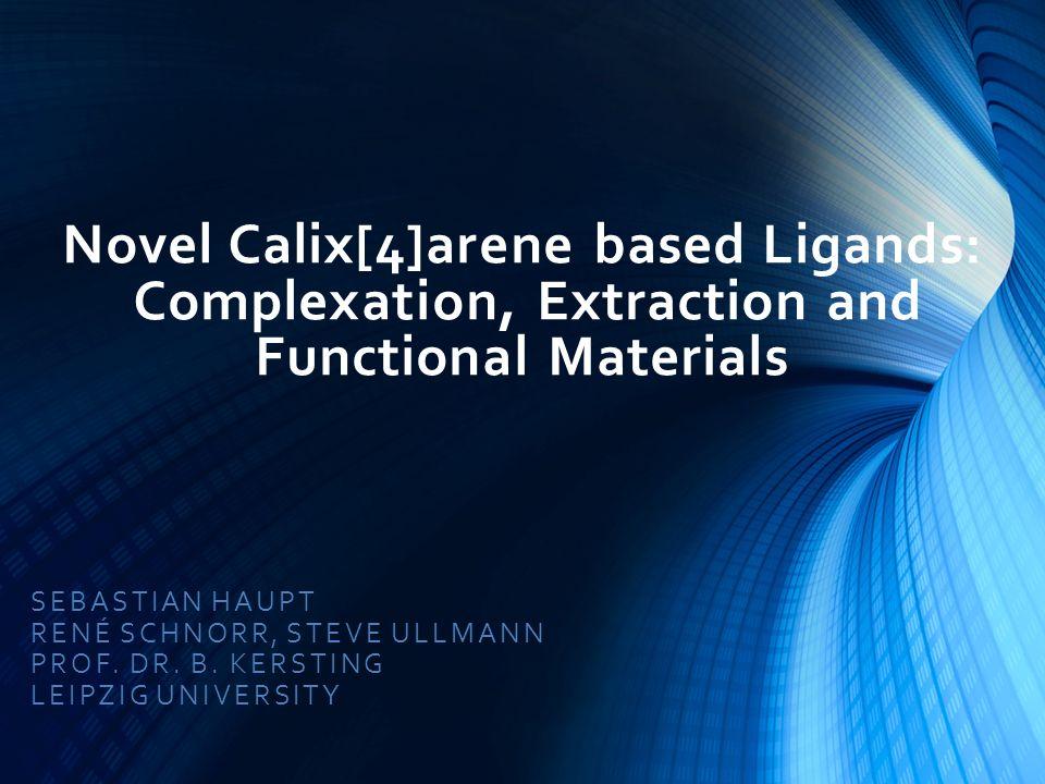 Novel Calix[4]arene based Ligands: Complexation, Extraction and Functional Materials SEBASTIAN HAUPT RENÉ SCHNORR, STEVE ULLMANN PROF.