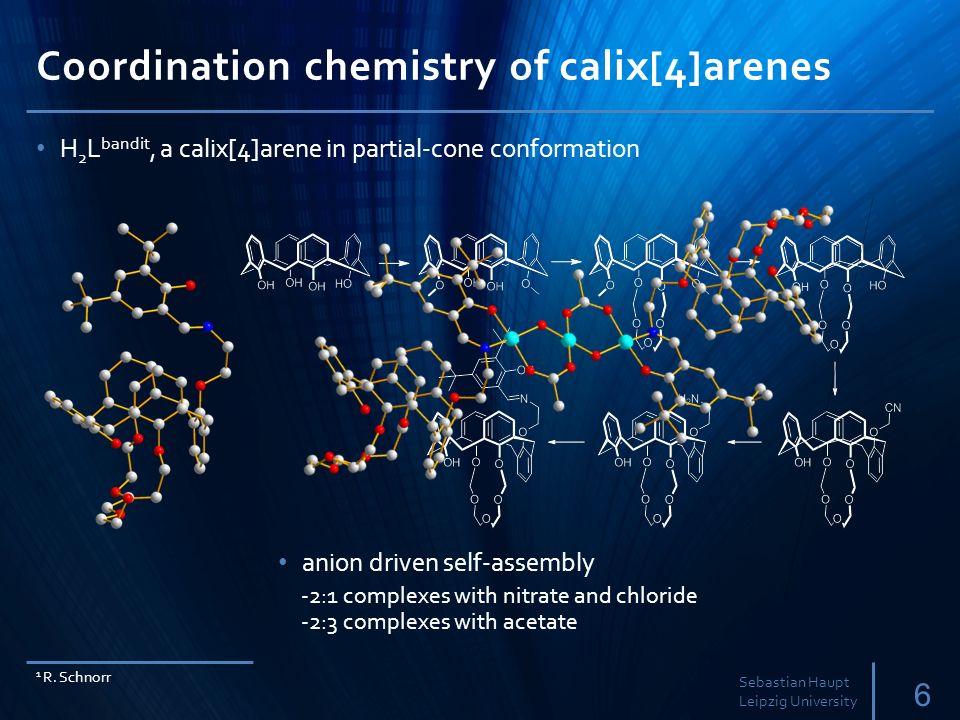 Coordination chemistry of calix[4]arenes 6 Sebastian Haupt Leipzig University 1 R.