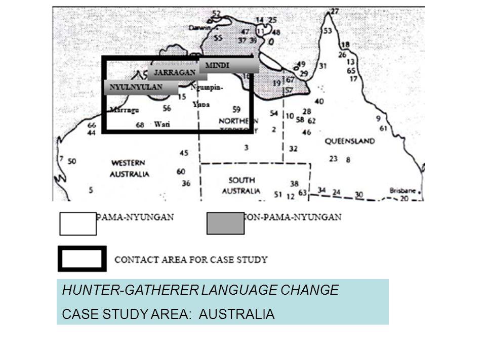 HUNTER-GATHERER LANGUAGE CHANGE CASE STUDY AREA: AUSTRALIA