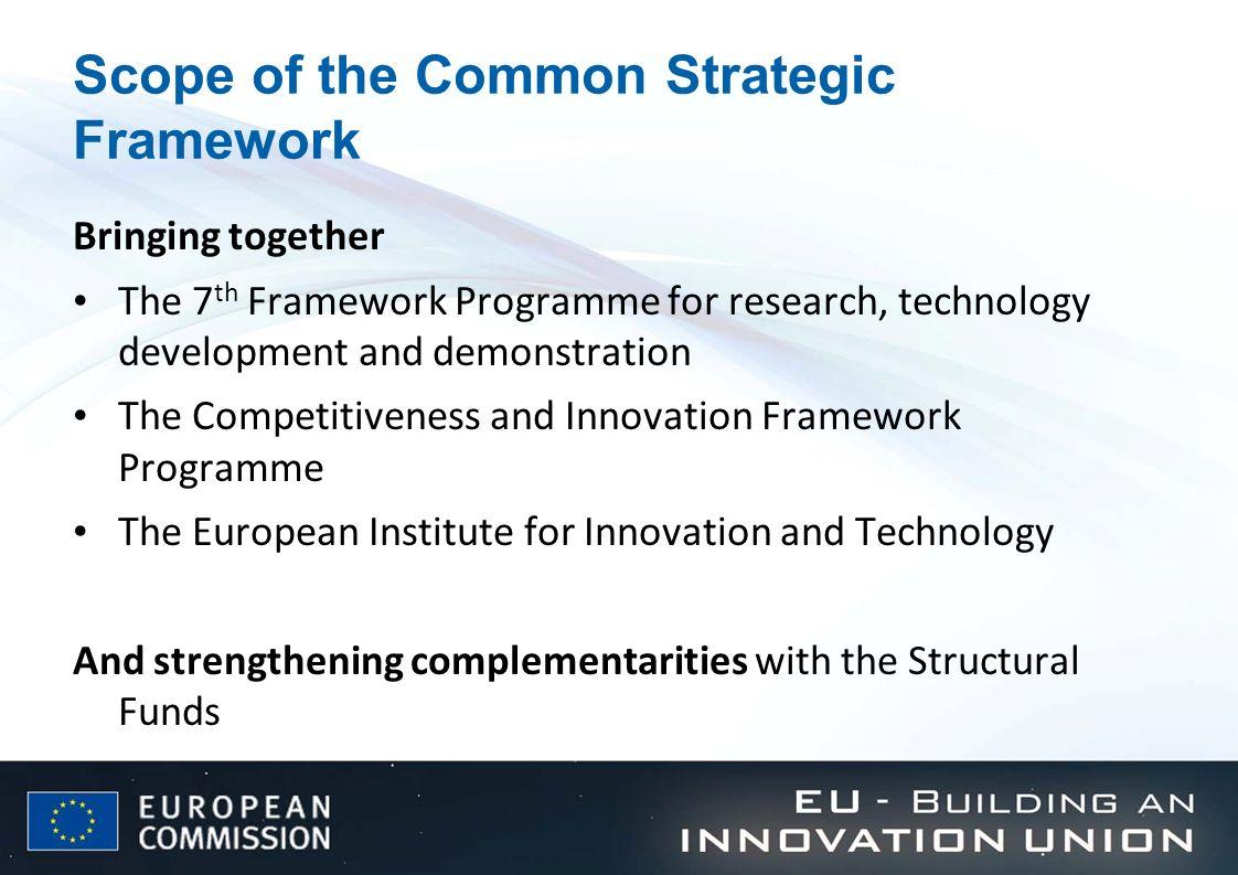 Why a Common Strategic Framework (1).