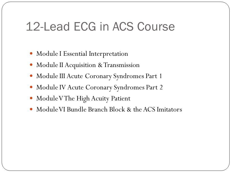 Essential 12-Lead Interpretation MODULE 1