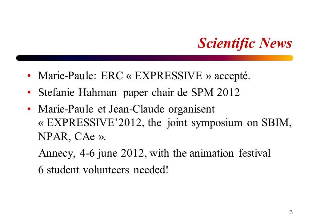 Scientific News Marie-Paule: ERC « EXPRESSIVE » accepté.