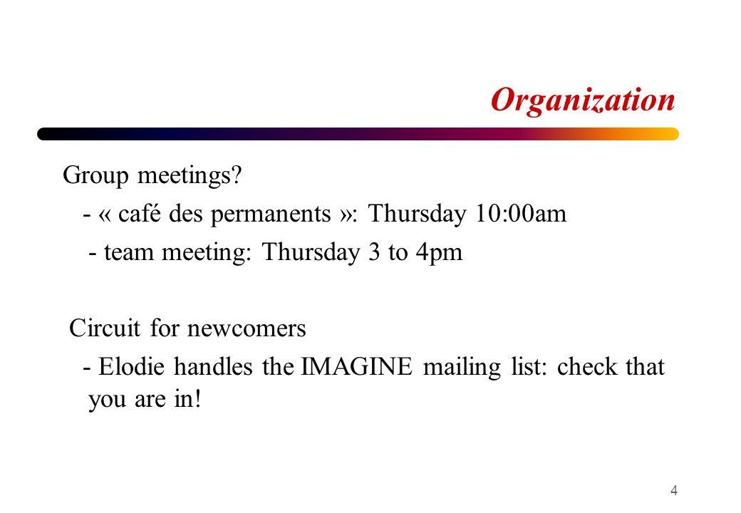 Organization Group meetings.