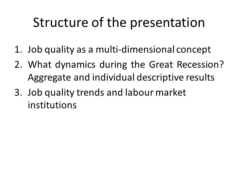 2-What dynamics during the Great Recession.
