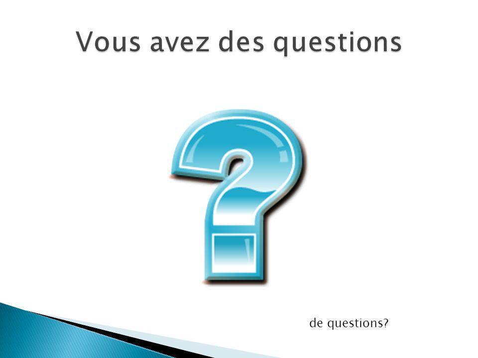 de questions?