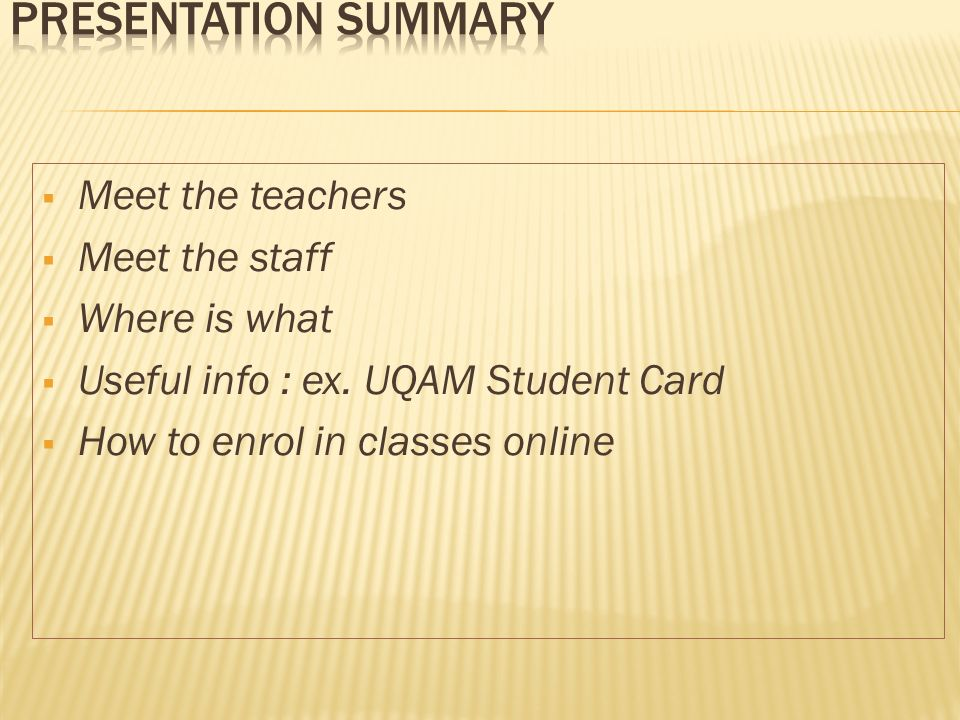 www.servicesfinanciers.uqam.ca For info on your course registration bill (Relevé dinscription-facture)