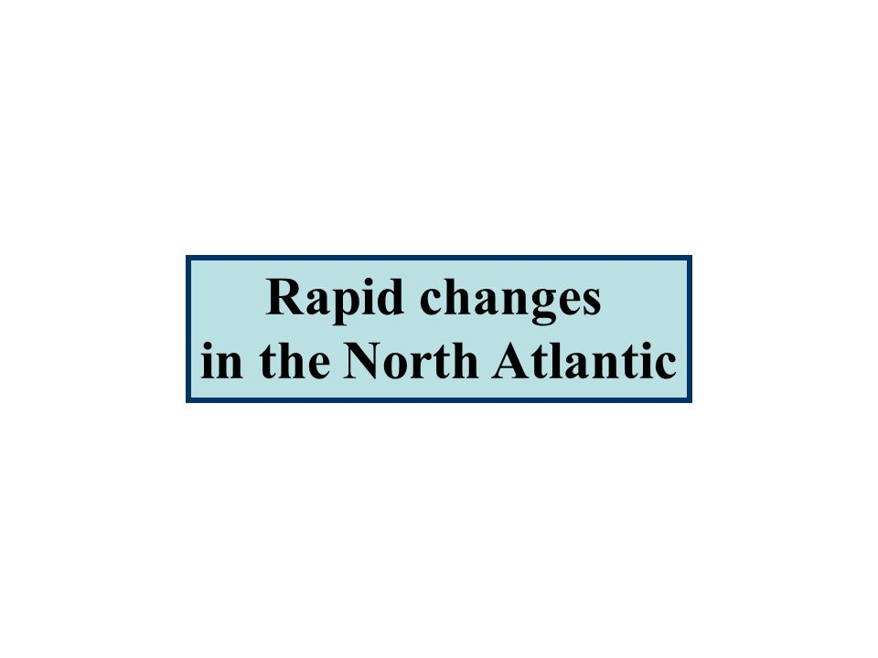 Rapid changes in the North Atlantic