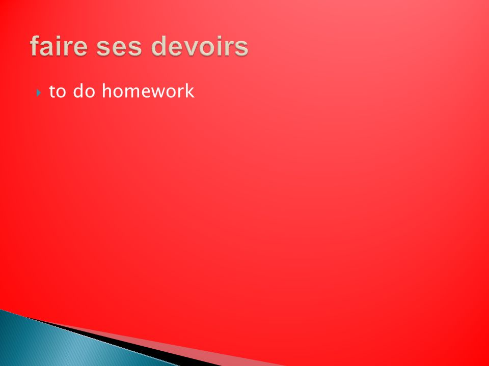 to do homework