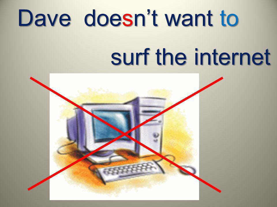Dave doesnt want to surf the internet