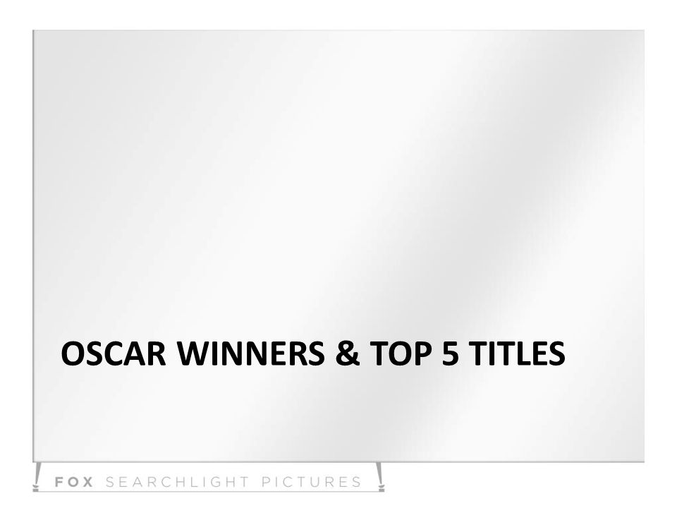 OSCAR WINNERS & TOP 5 TITLES