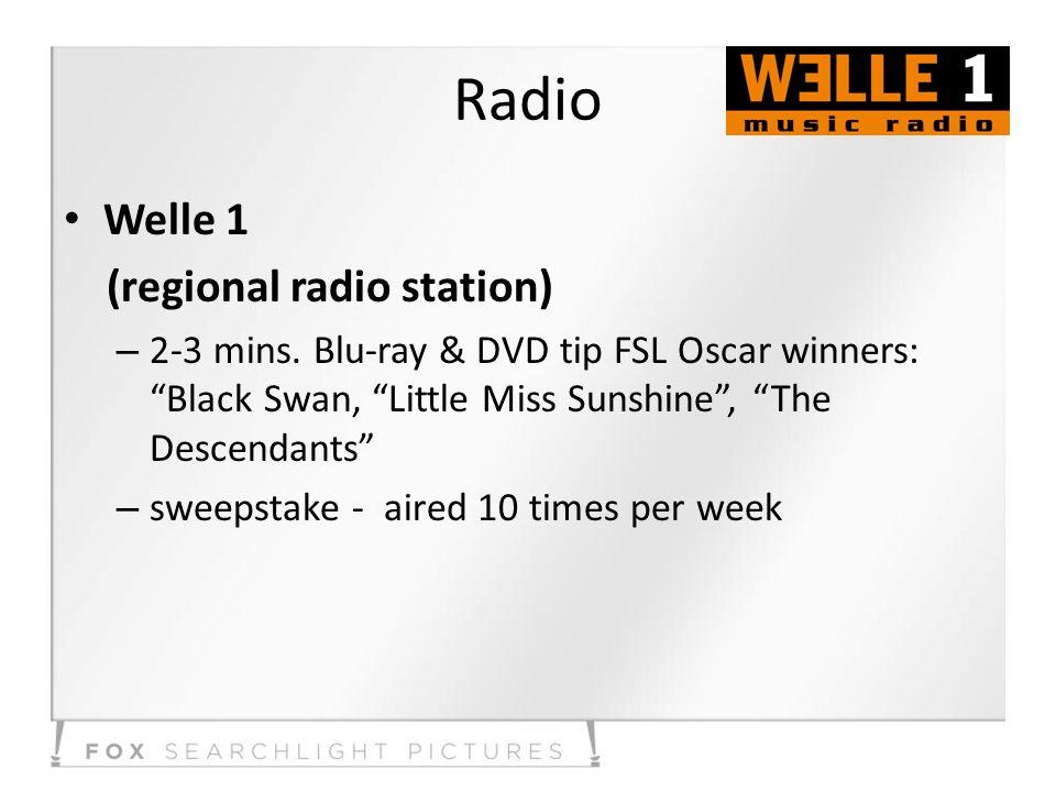 Radio Welle 1 (regional radio station) – 2-3 mins.