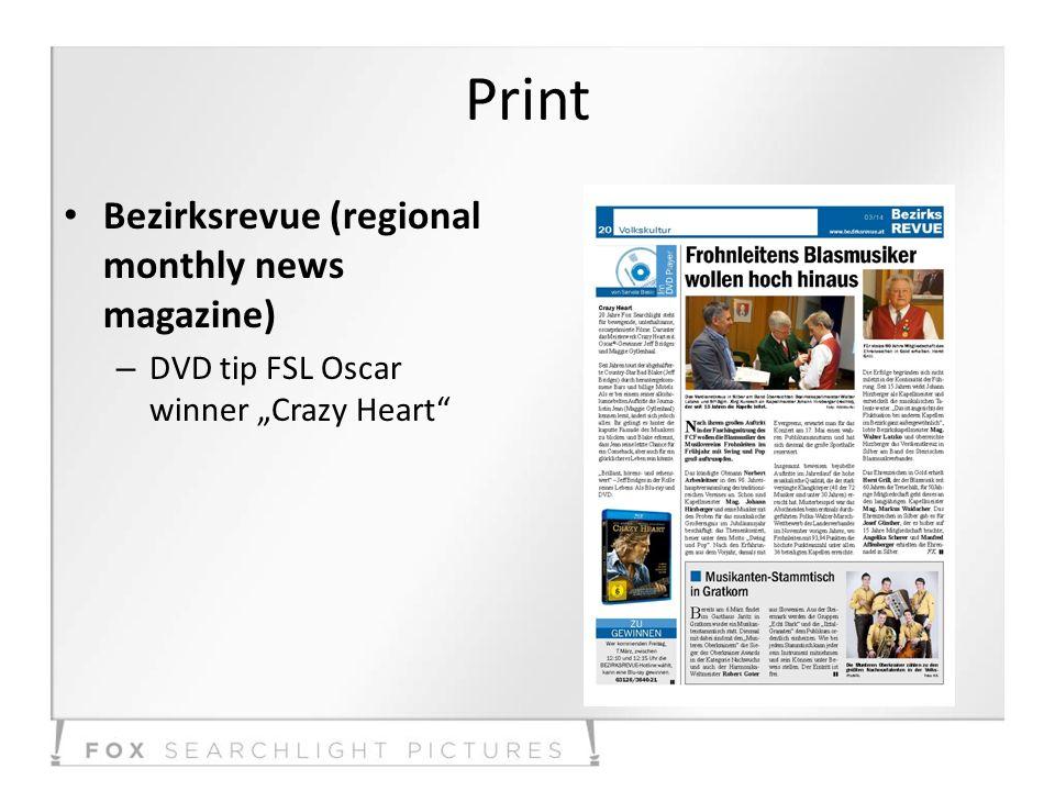 Print Bezirksrevue (regional monthly news magazine) – DVD tip FSL Oscar winner Crazy Heart