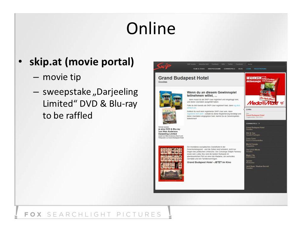 Online skip.at (movie portal) – movie tip – sweepstake Darjeeling Limited DVD & Blu-ray to be raffled