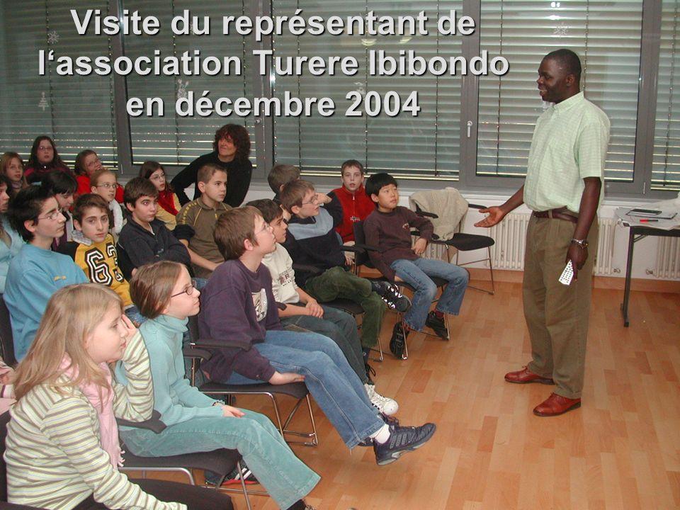 Visite du représentant de lassociation Turere Ibibondo en décembre 2004