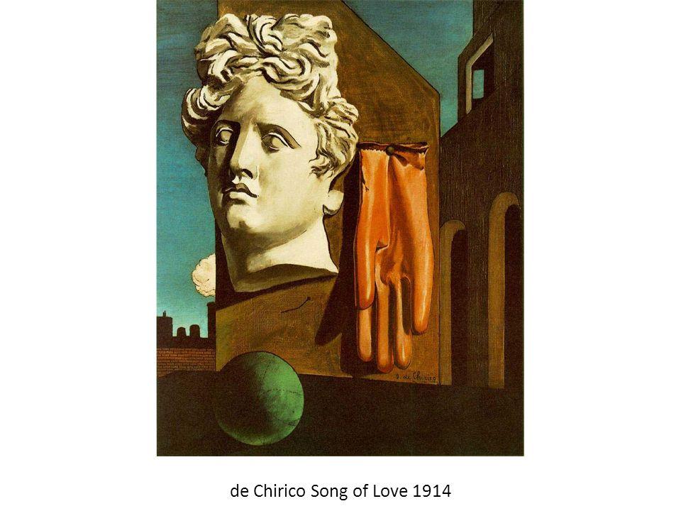 de Chirico Song of Love 1914