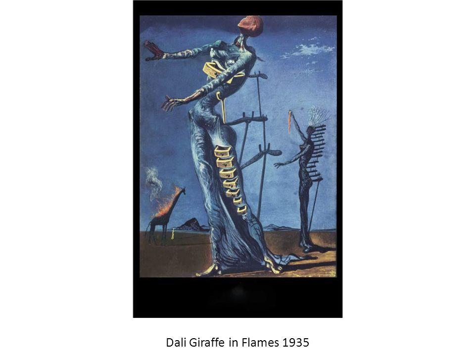 Dali Giraffe in Flames 1935