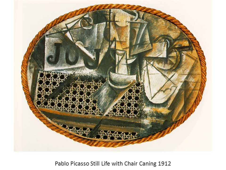 Pablo Picasso Still Life with Chair Caning 1912
