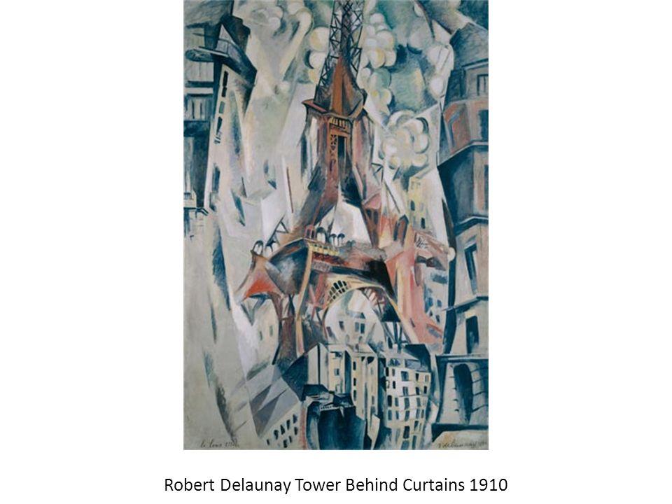 Robert Delaunay Tower Behind Curtains 1910