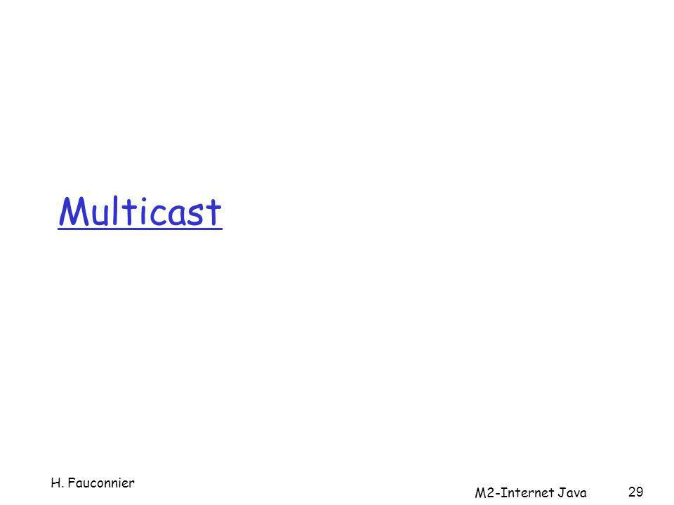Multicast 29 H. Fauconnier M2-Internet Java