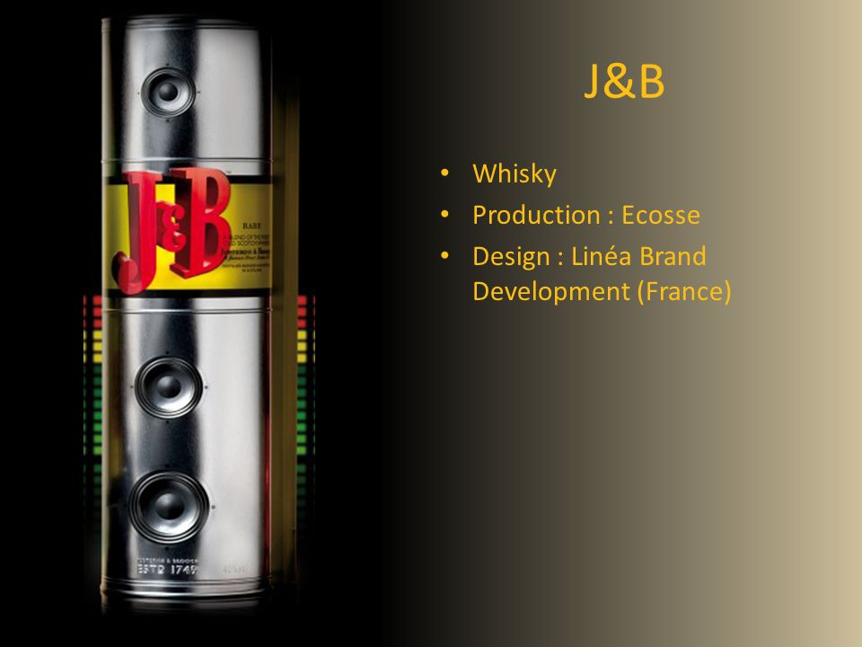 J&B Whisky Production : Ecosse Design : Linéa Brand Development (France)