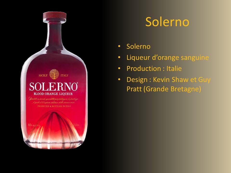 Solerno Liqueur dorange sanguine Production : Italie Design : Kevin Shaw et Guy Pratt (Grande Bretagne)