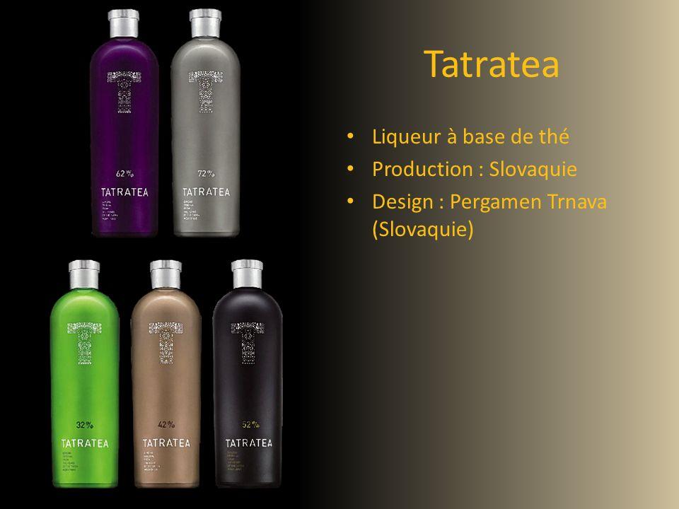Tatratea Liqueur à base de thé Production : Slovaquie Design : Pergamen Trnava (Slovaquie)