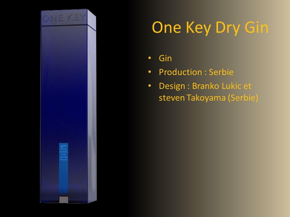 One Key Dry Gin Gin Production : Serbie Design : Branko Lukic et steven Takoyama (Serbie)
