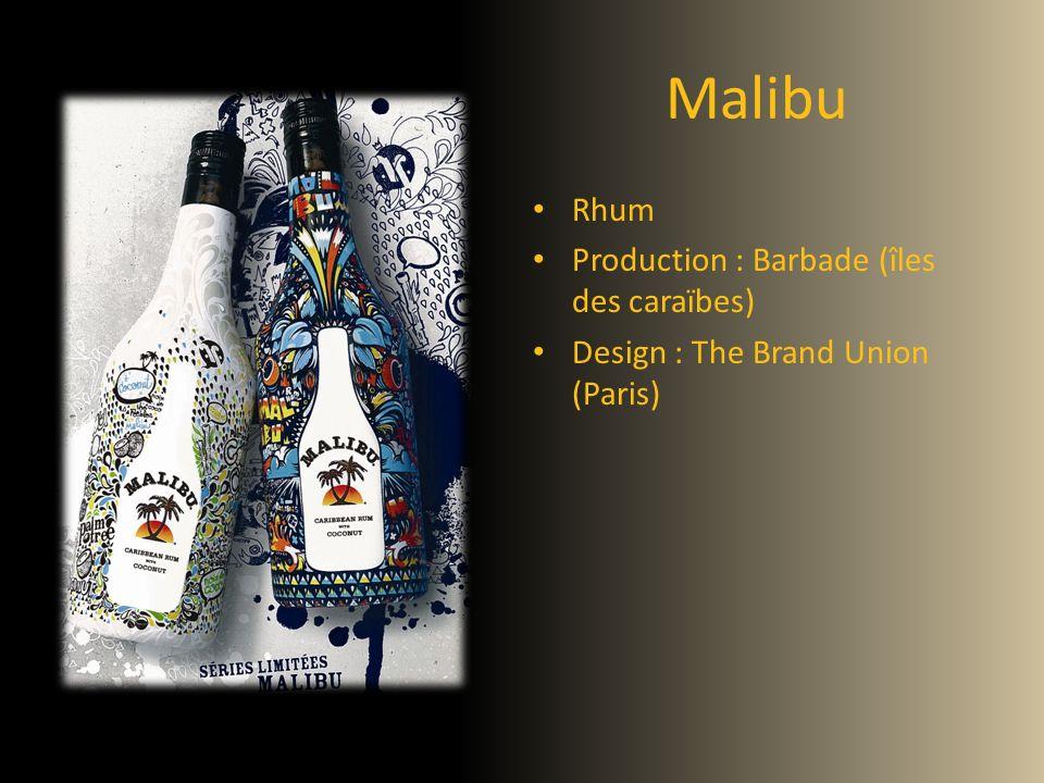 Malibu Rhum Production : Barbade (îles des caraïbes) Design : The Brand Union (Paris)