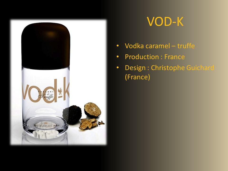 VOD-K Vodka caramel – truffe Production : France Design : Christophe Guichard (France)