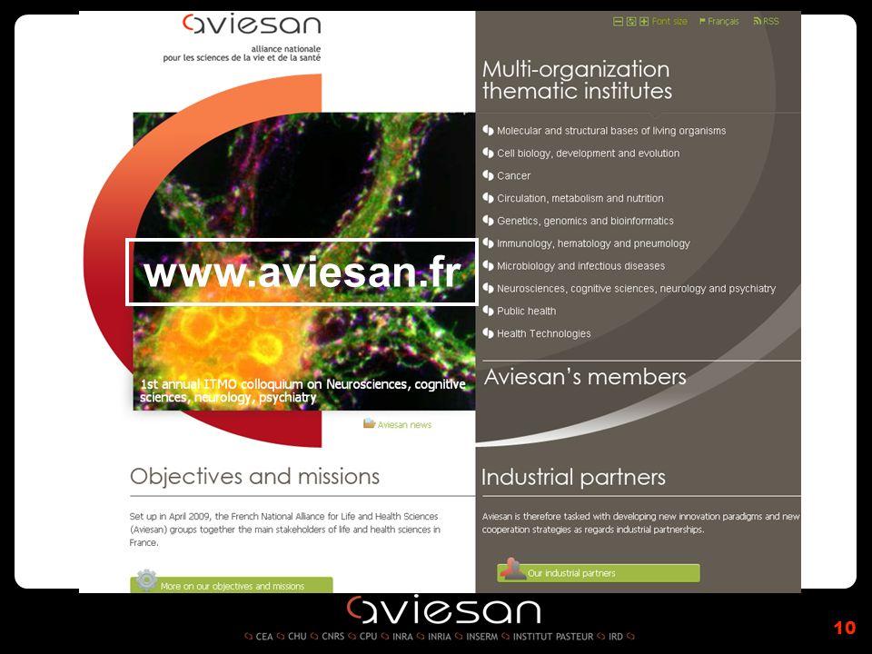 10 www.aviesan.fr