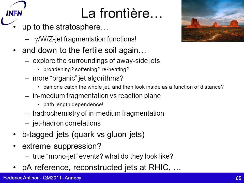 La frontìère… up to the stratosphere… – /W/Z-jet fragmentation functions.