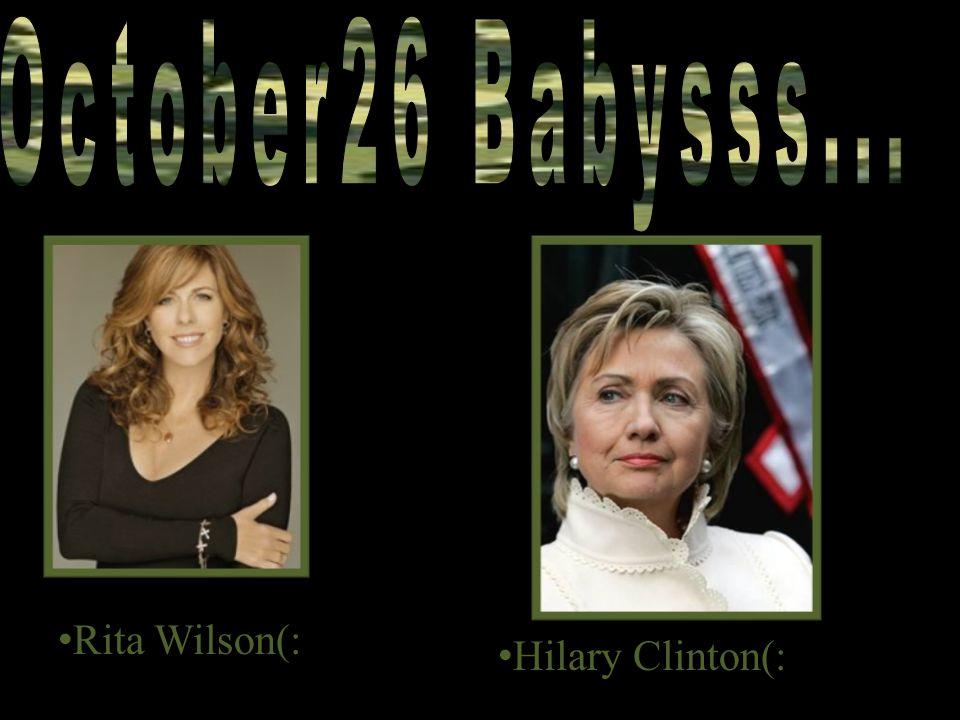 Rita Wilson(: Hilary Clinton(: