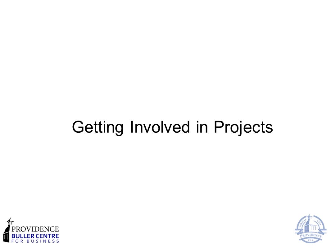 Getting Involved in Projects