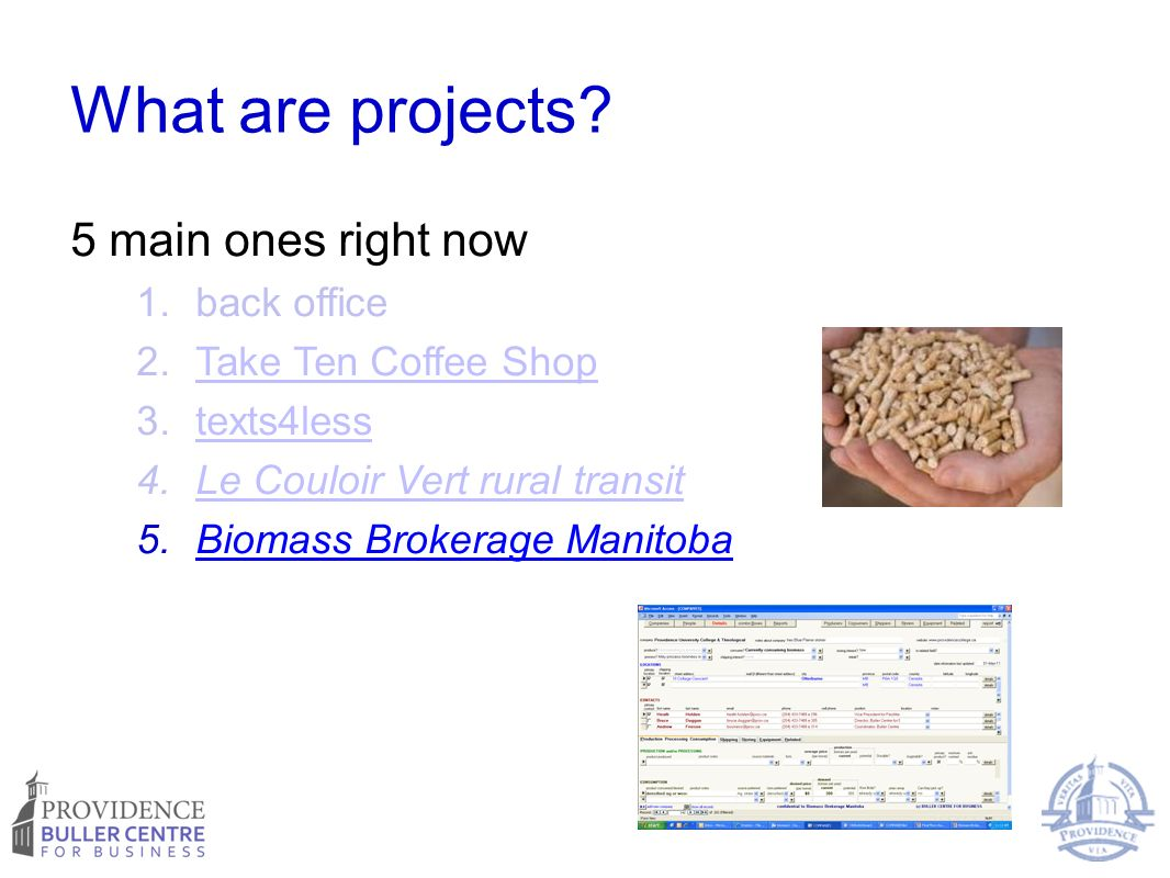 What are projects.