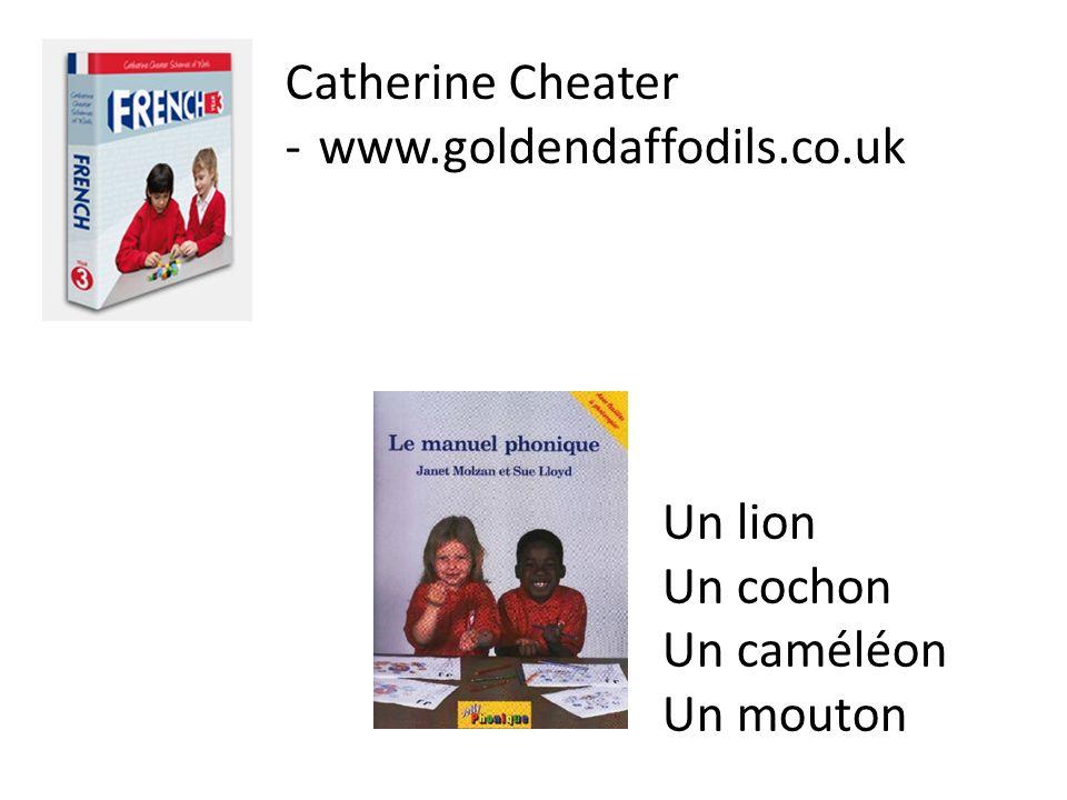 Catherine Cheater -www.goldendaffodils.co.uk Un lion Un cochon Un caméléon Un mouton