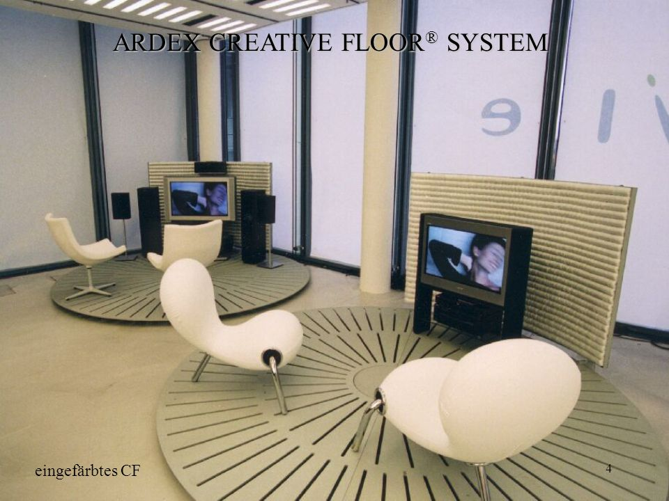 4 ARDEX CREATIVE FLOOR ® SYSTEM eingefärbtes CF