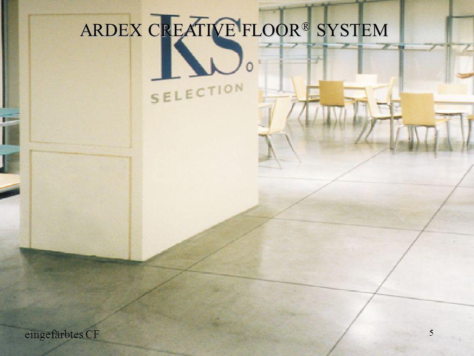 5 ARDEX CREATIVE FLOOR ® SYSTEM eingefärbtes CF