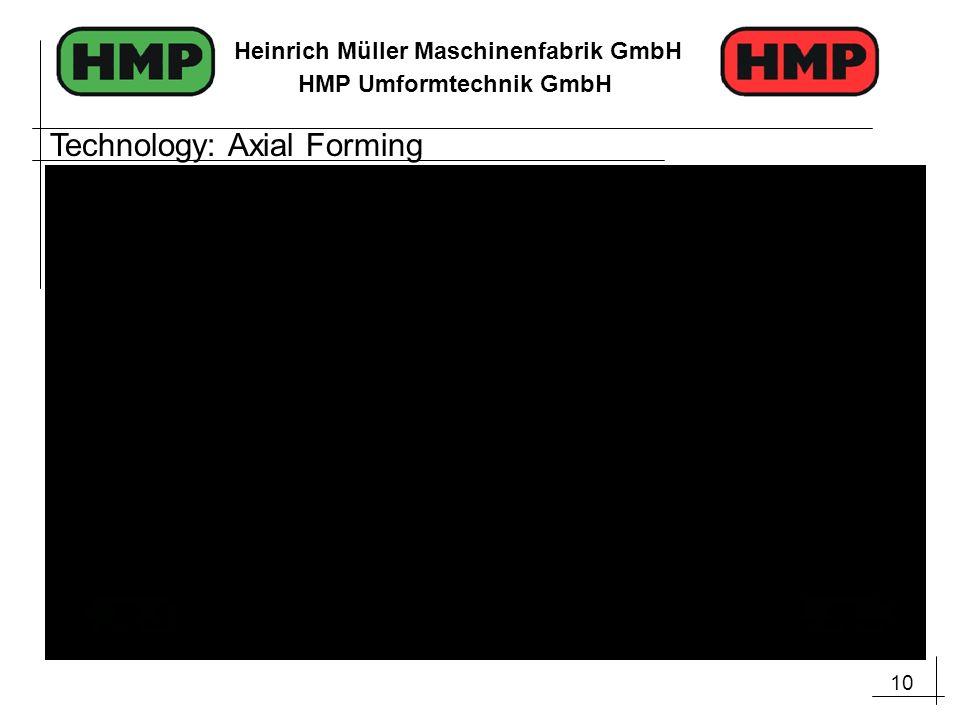 10 Heinrich Müller Maschinenfabrik GmbH HMP Umformtechnik GmbH Technology: Axial Forming