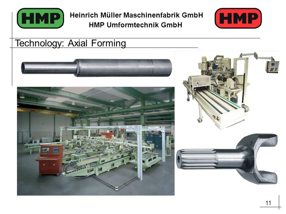 11 Heinrich Müller Maschinenfabrik GmbH HMP Umformtechnik GmbH Technology: Axial Forming