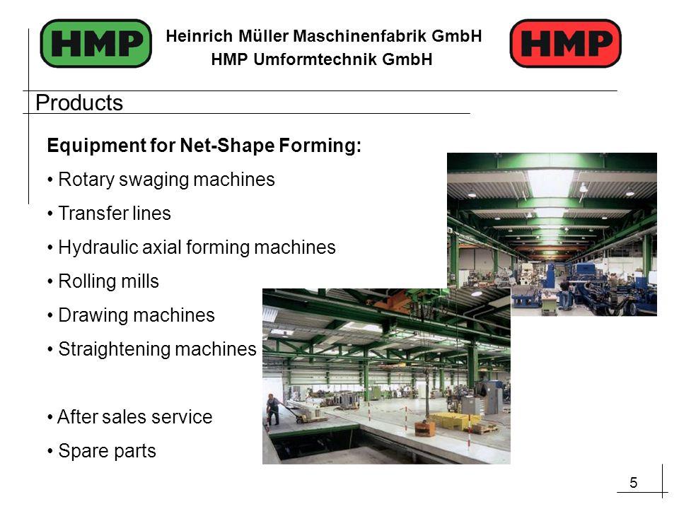 6 Heinrich Müller Maschinenfabrik GmbH HMP Umformtechnik GmbH Technology: Rotary Swaging
