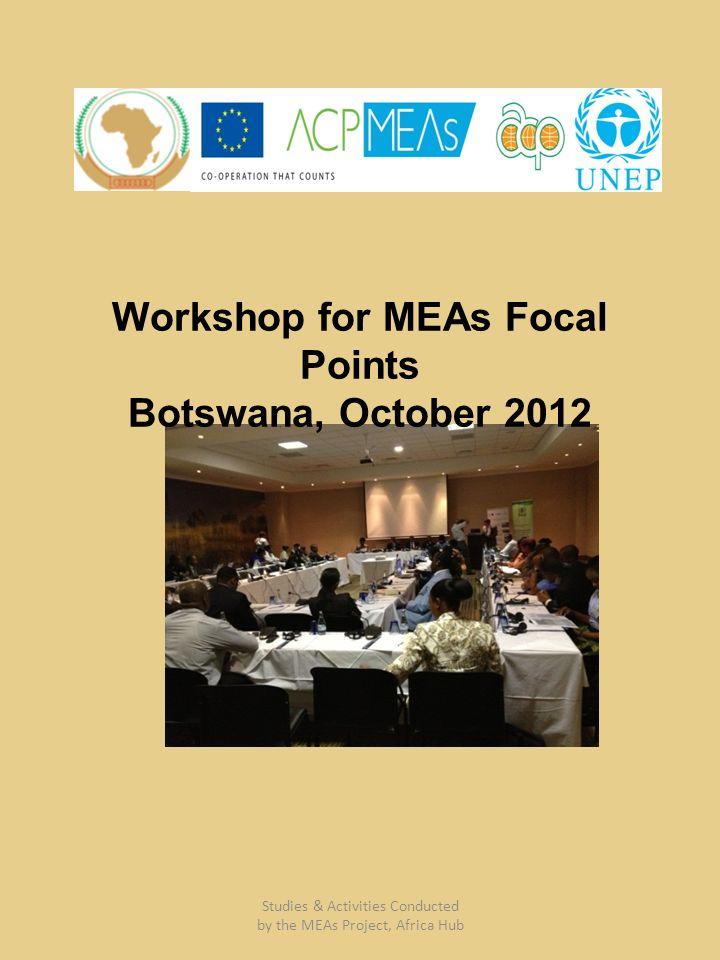 Workshop for MEAs Focal Points Botswana, October 2012