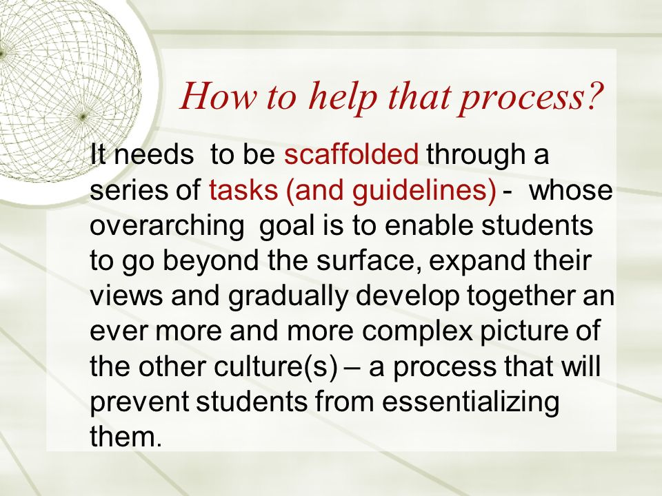 How to help that process.
