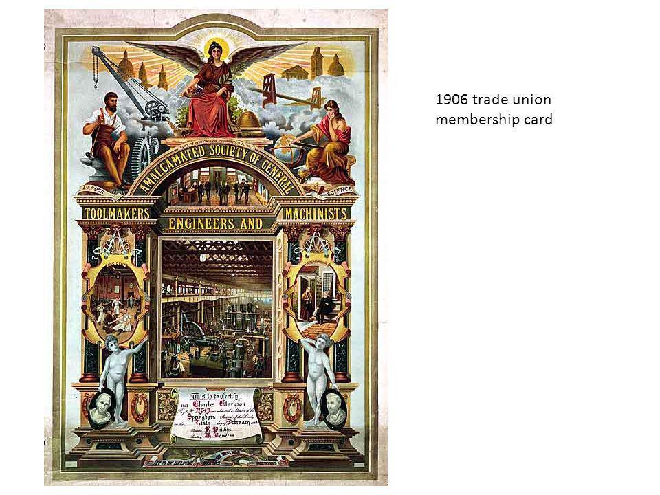 1906 trade union membership card