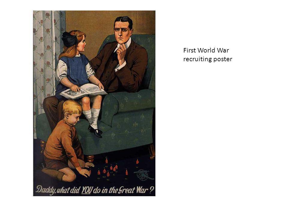 First World War recruiting poster